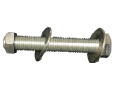 Bolt Assembly :3/8&#34 X 1-1/4&#34 Hexhead, 1 Nut, 2 Washers, 18-8 SS