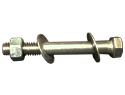 Bolt Assembly : 3/8-15&#34 X 41/2&#34 Hexhead, 1 Nut, 2 Washers, 18-8 SS